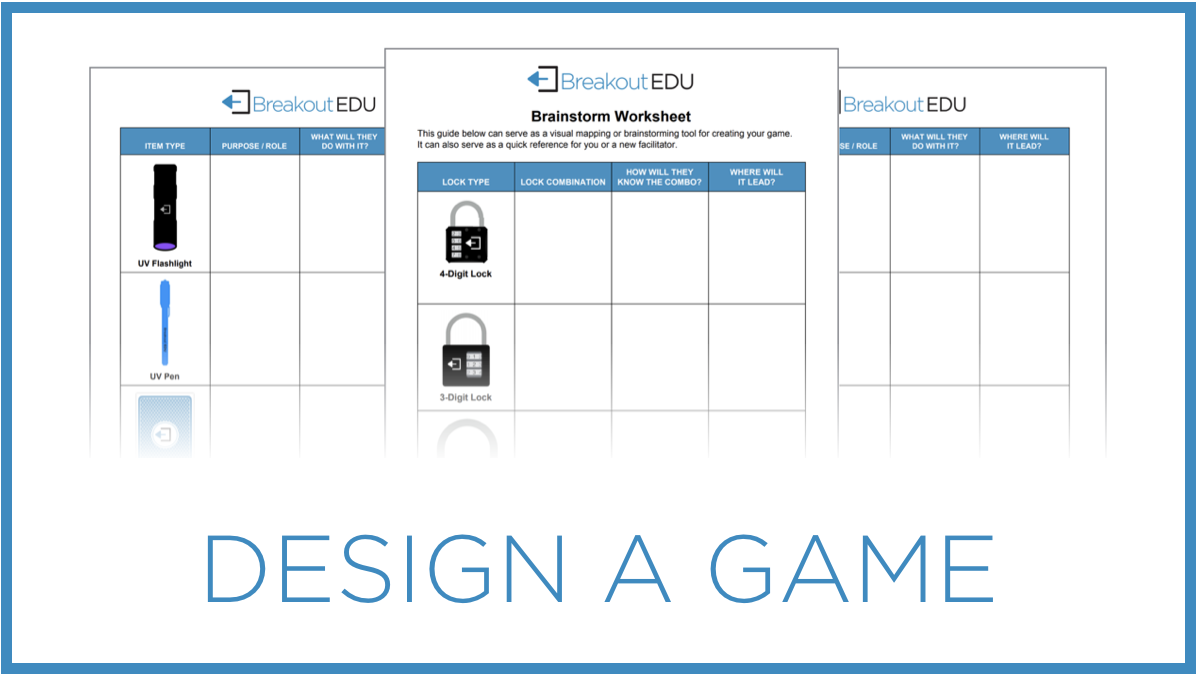 Learn how to design a Breakout EDU game that can be played with your kit and shared with the community.