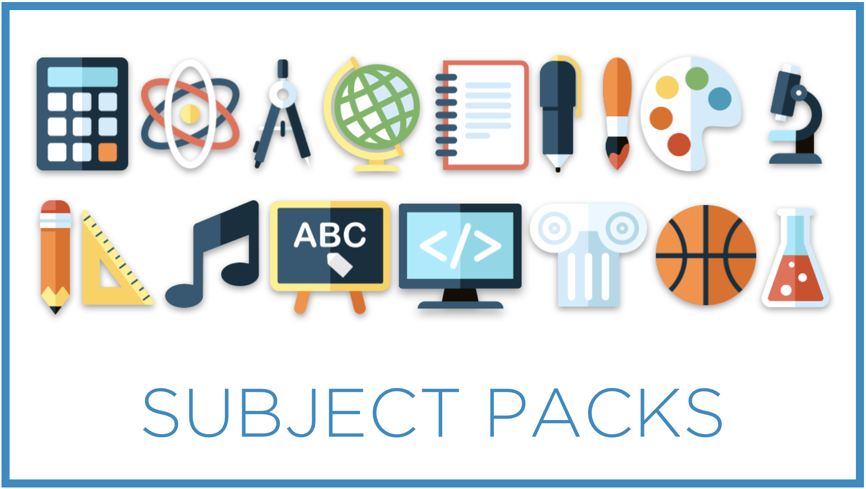 Check out the list of Subject Pack game topics and find one that will be great with your students!