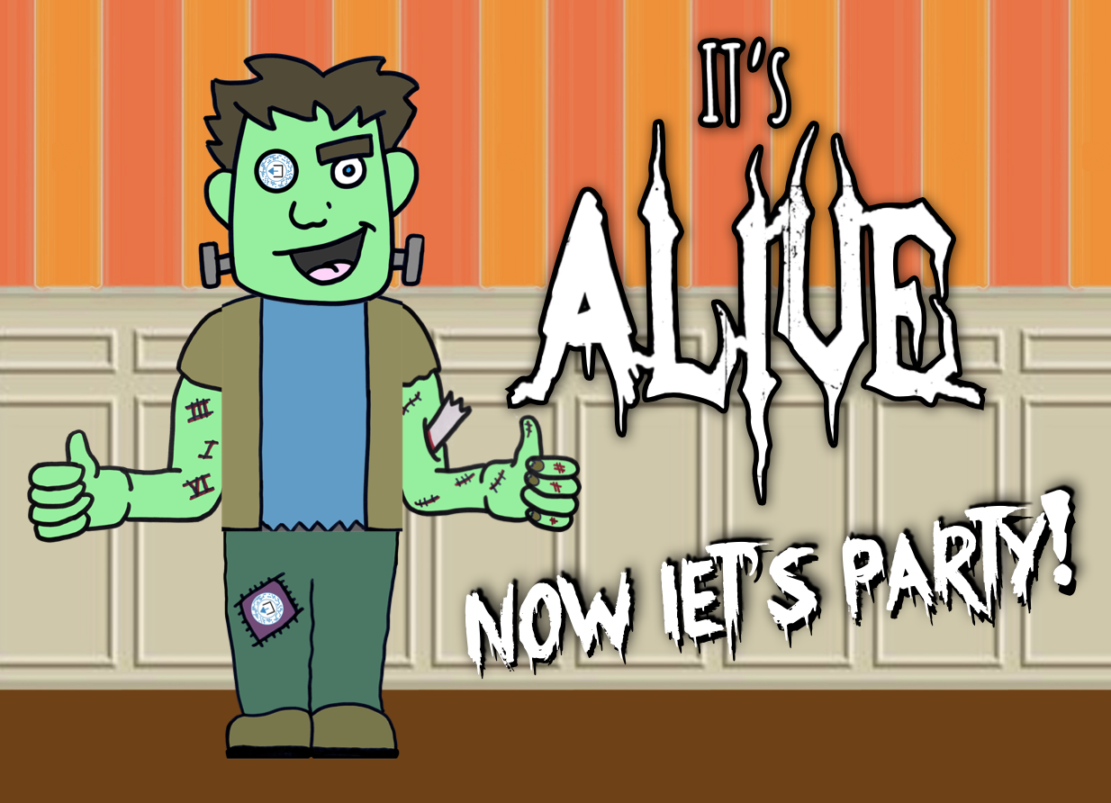 "It's Alive… Now Let's Party! (Digital Game)   You helped bring Franky to life in ""It's Alive!"" but now Franky has been invited to a spooktacular Halloween Party and he needs your help to play the fun party games!    LEARN MORE"