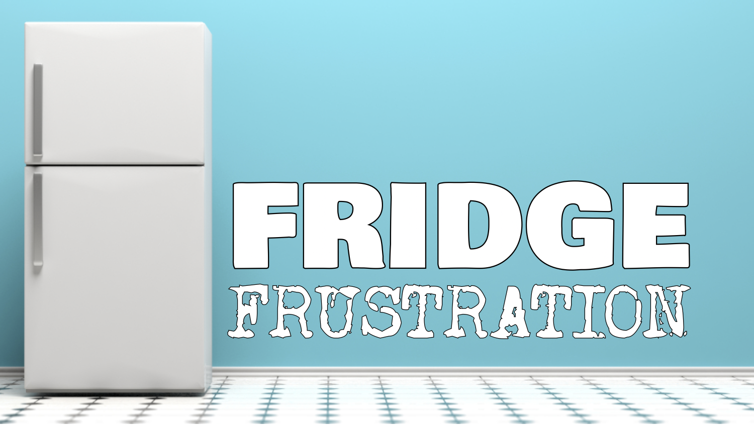 In   FRIDGE FRUSTRATION  , three players will face the ultimate challenge of sharing a messy office refrigerator. They must work together in order to tackle the bane of any work environment - a shared fridge.