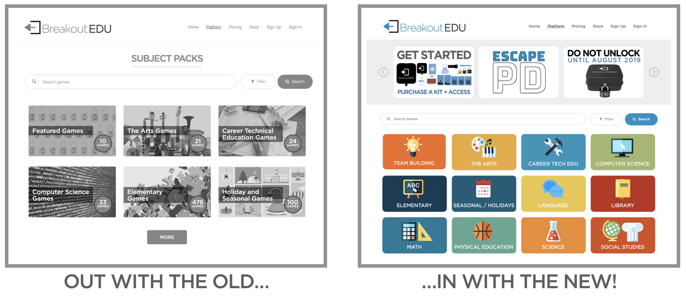 88cd887e8 We used this occasion to help make navigating Breakout EDU even easier and  more straight-forward for teachers. In addition to a new look, we have  added some ...