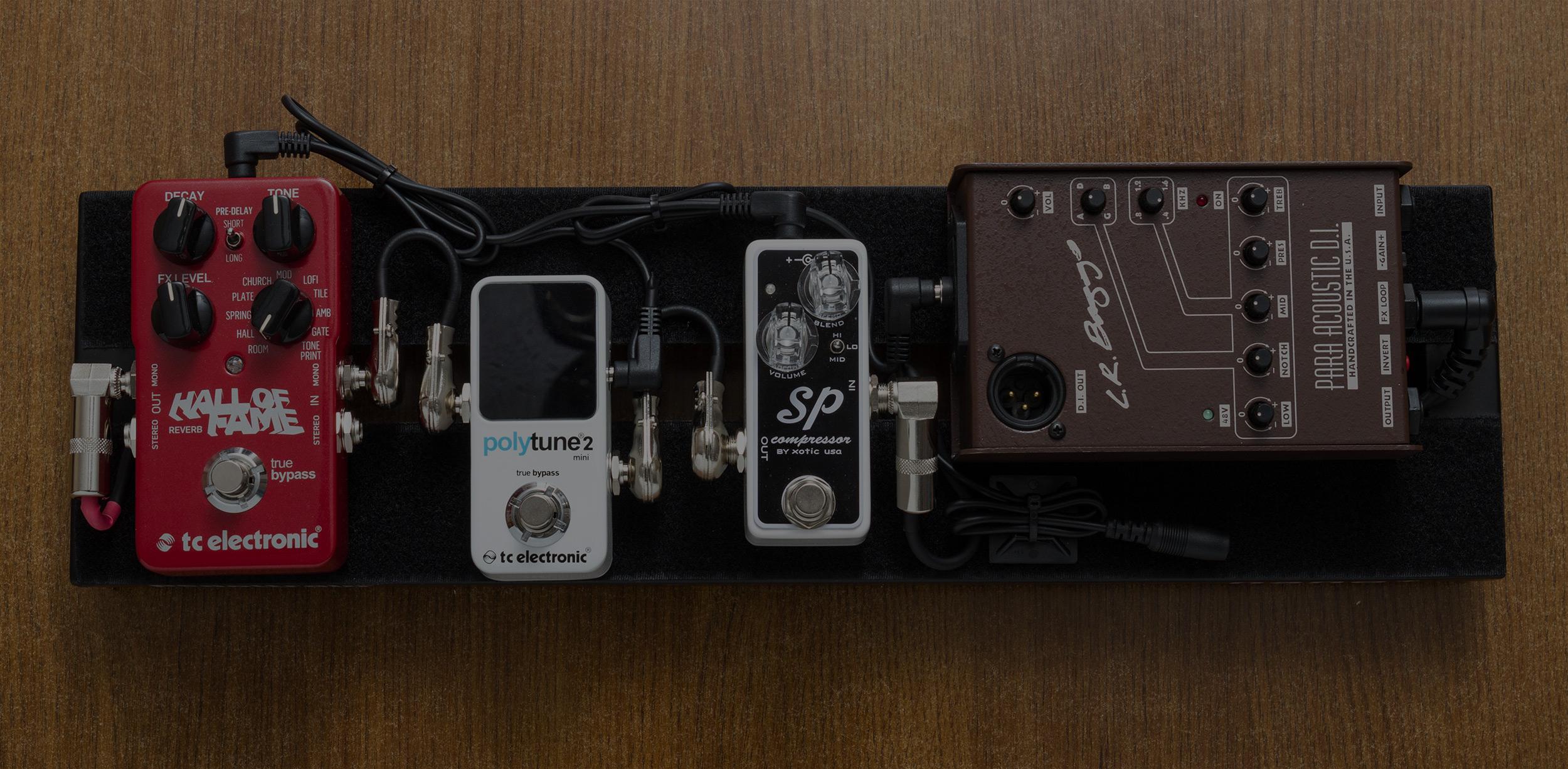 PedaltrainNANO+ - Single Channel Acoustic Rig