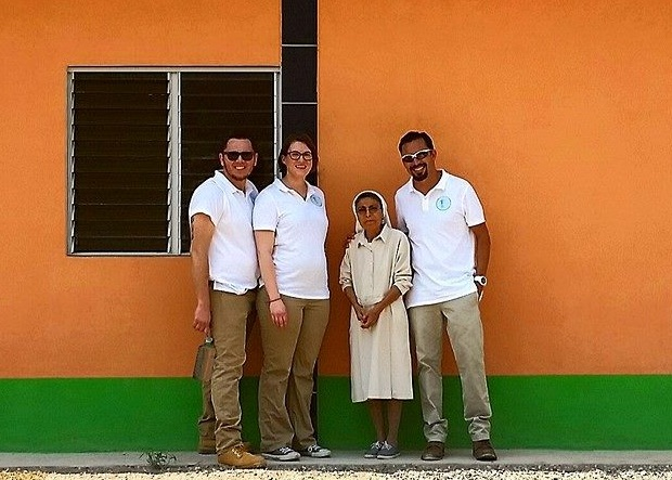 Victor, Megan, and Julio after their first visit to Hermana Edna's malnutrition center in San Agustin, Guatemala. April 2014.