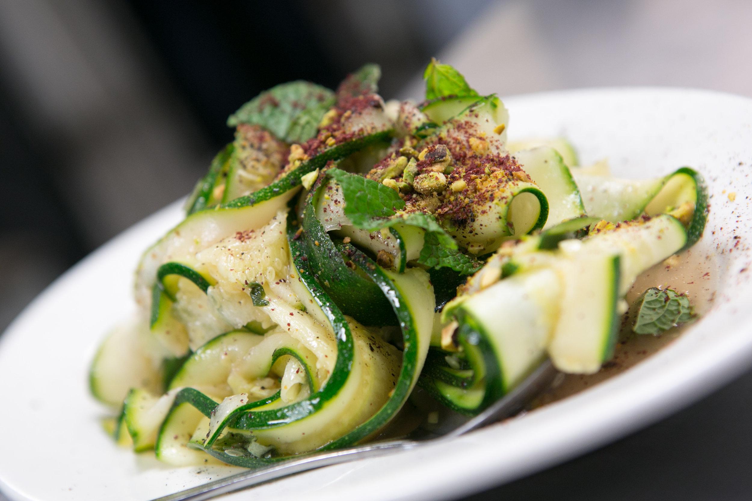Raw zucchini salad with sumac vinaigrette and fresh herbs.-1.jpg