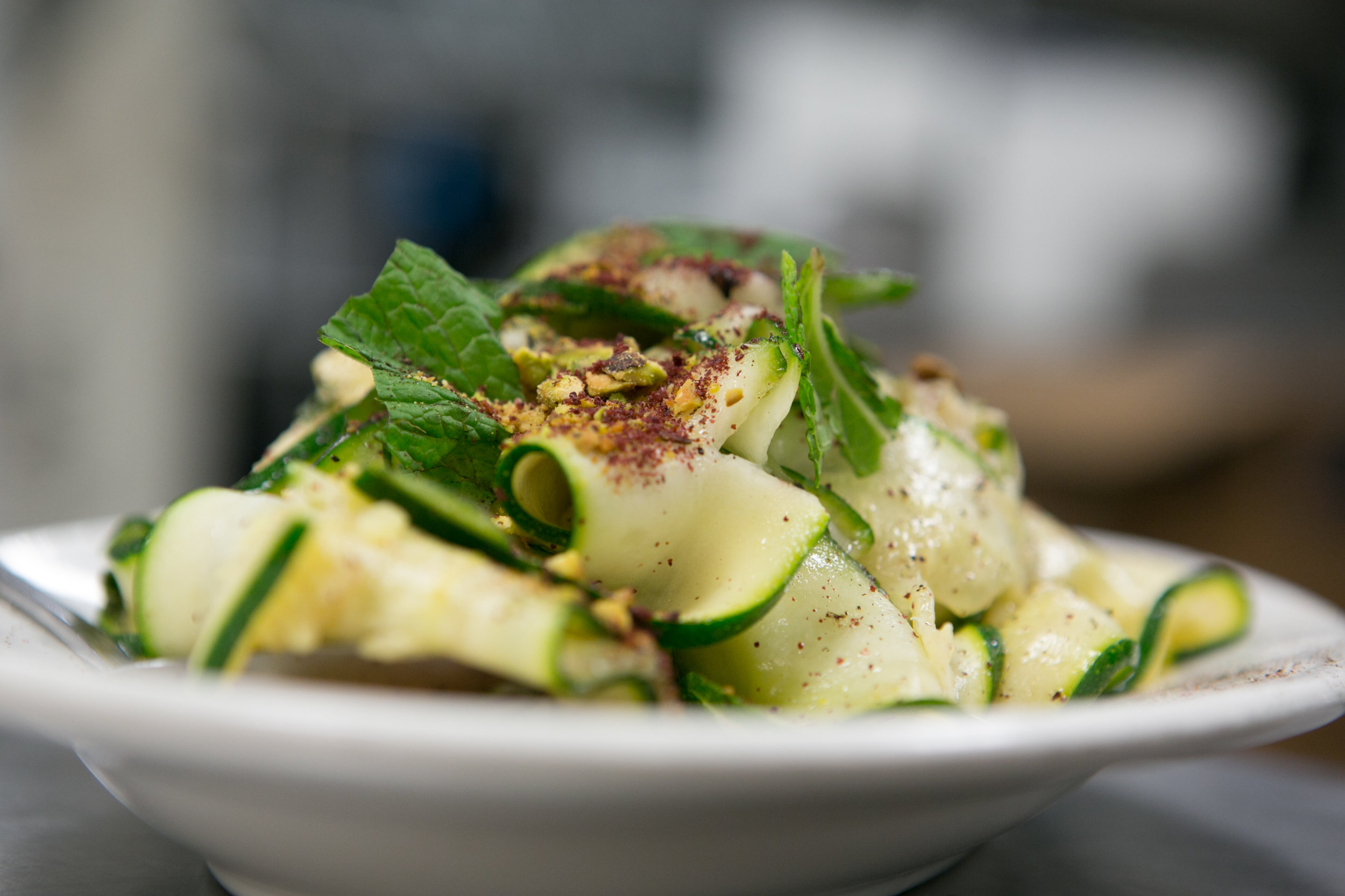 Raw zucchini salad with sumac vinaigrette and fresh herbs.-2.jpg