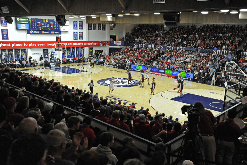 The famed McKeon Pavilion in Moraga California. Site of many Section925 SportsCentury defining moments.