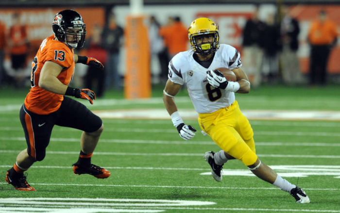 D.J. Foster of Arizona State (photo by Steve Dykes)