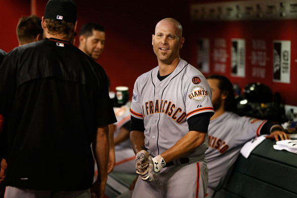 Huddy has enjoyed swinging the lumber in the National League (Photo by Christian Petersen)