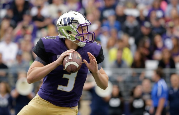 JAKE BROWNING WILL LEAD THE HUSKIES AGAINST CAL ON SATURDAY IN SEATTLE. BROWNING, A TRUE FRESHMAN, WAS KNOWN AS ONE OF THE BEST QUARTERBACKS IN CALIFORNIA HISTORY AT FOLSOM HIGH SCHOOL OUTSIDE OF SACRAMENTO. (PHOTO BY TED S. WARREN)