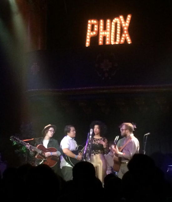 THE SEXTET FROM WISCONSIN HARMONIZING AT SAN FRANCISCO'S GREAT AMERICAN MUSIC HALL (PHOTO BY PETER HORN)