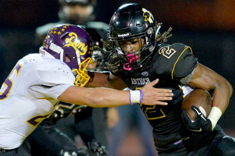 Antioch junior Najee Harris will play his college ball at Alabama, but first he'd like a shot at De La Salle in the NCS Championship. (Doug Duran)
