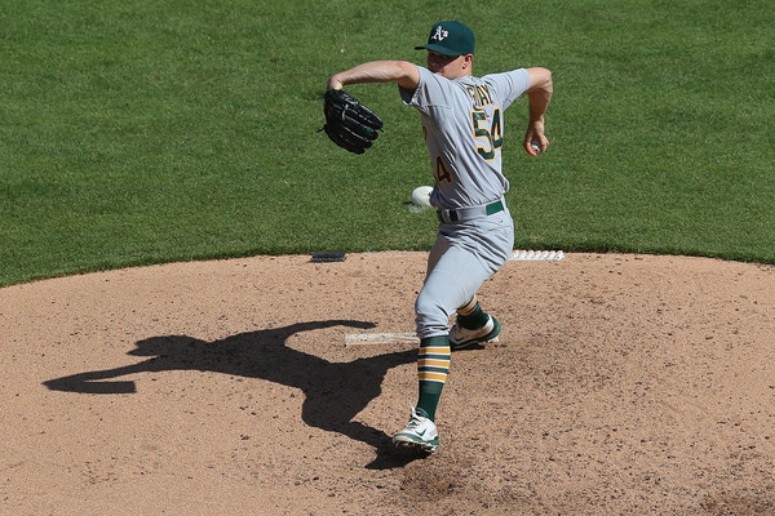 The undisputed ace of the 2016 A's: Sonny Gray (Photo by Ronald Martinez)