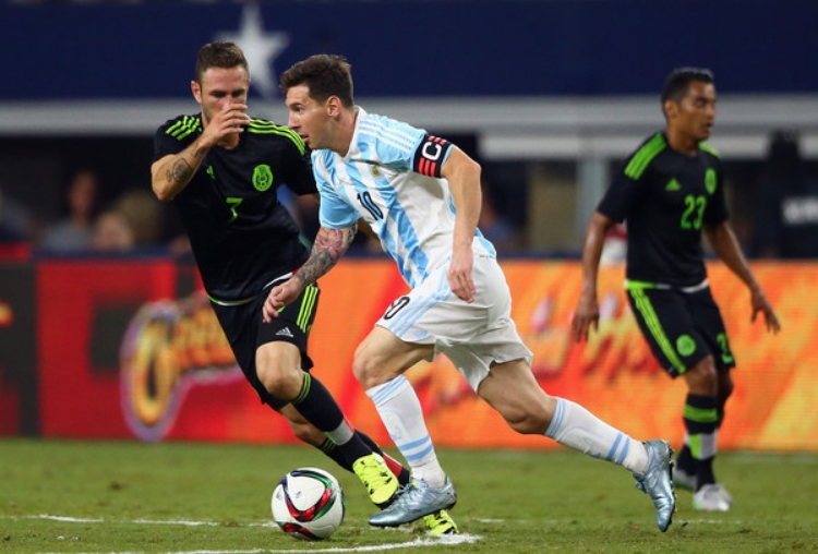 The best soccer player on Planet Earth, Lionel Messi, will take the pitch at Levi's Stadium on June 6th when Argentina faces Chile. (photo by Ronald Martinez)