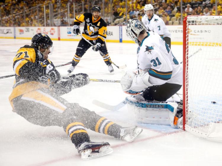 Martin Jones has been standing on his head as of late. (photo by Justin K. Aller)