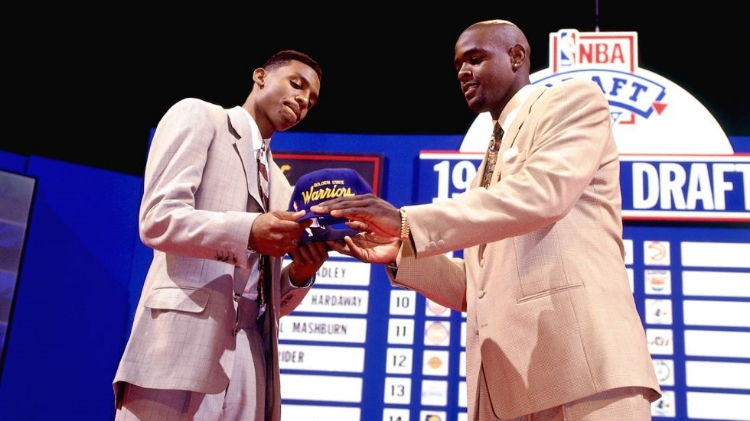 The 1993 trade draft night trade that sent Penny Hardaway to Orlando and no. 1 pick C-Webb to Oakland (photo by Nathaniel S. Butler)