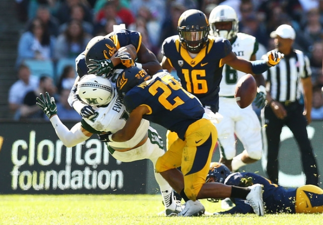 The Golden Bears started off their season a week early by beating Hawaii 51-31 in Sydney.(Photo by Mark Nolan)