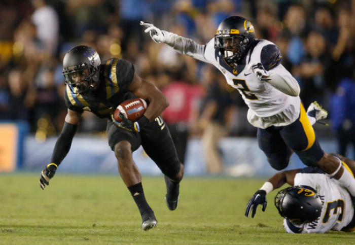 Allensworth has totaled 73 tackles over the first two years of his Cal career.(Photo by Sean M. Haffey)