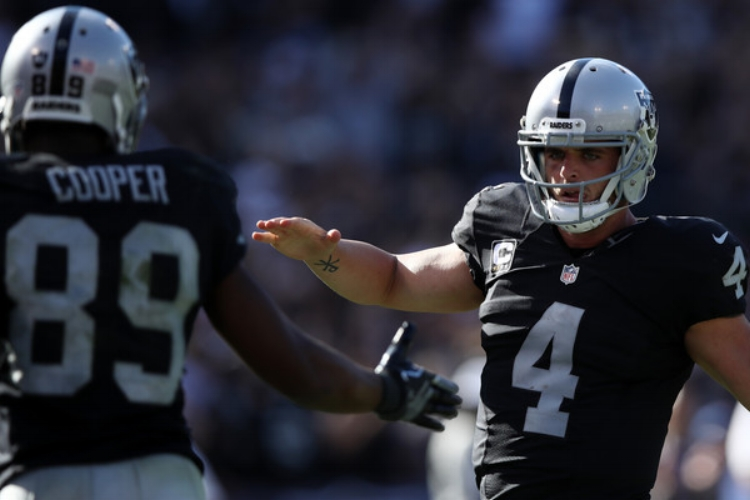 #Carr2Cooper has been trending hard in Oakland this season.(Photo by Ezra Shaw)