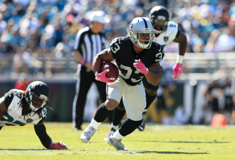 DeAndre Washington and the Raiders are looking more and more like a title contending team.(Photo by Rob Foldy)