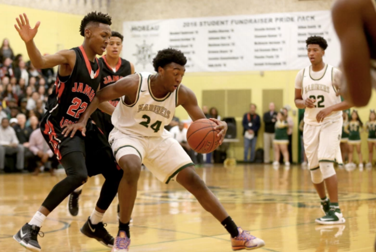 Kyree Walker of Moreau Catholic in Hayward is arguably the best freshman in the country. (photo by Ray Chavez)