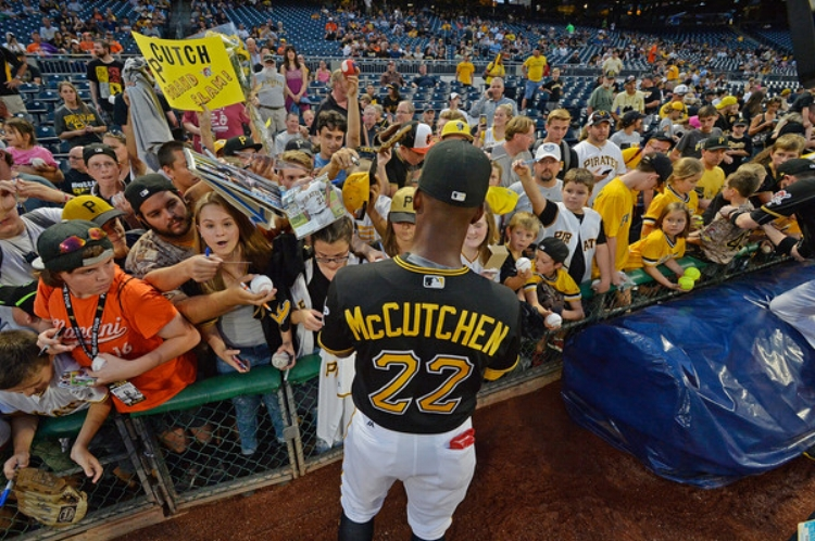 """""""Cutch"""" has a been a fan favorite in Pittsburgh for his entire nine year career (photo by Justin Berl)"""