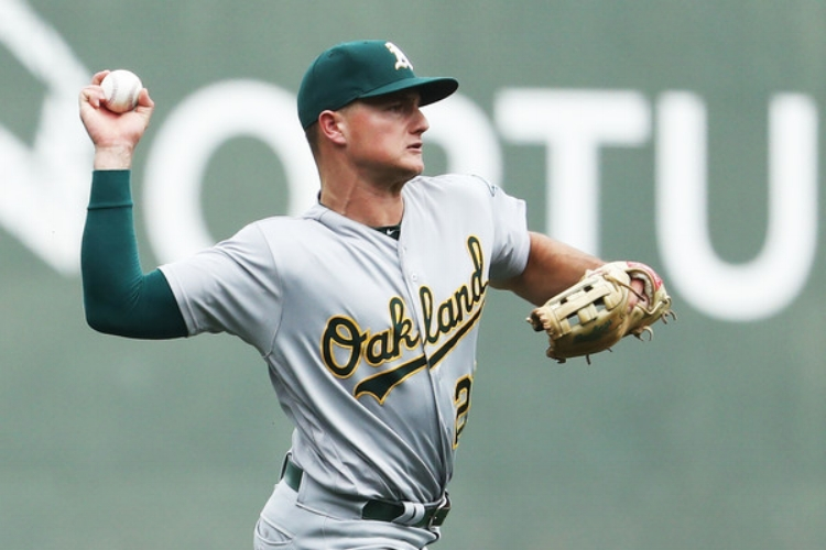 Matt Chapman is the A's future at the hot corner. (photo by Maddie Meyer)