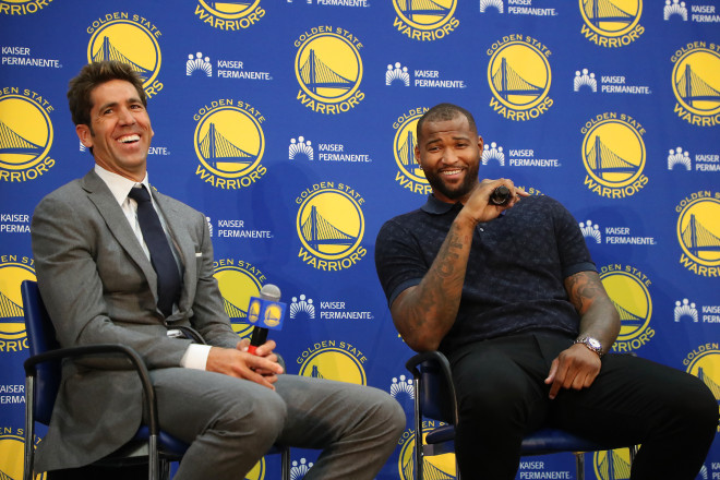 The rich get richer -- Boogie Cousins' achilles injury made way for the addition of the Warriors'fifth all-star (photo by Aric Crabb)