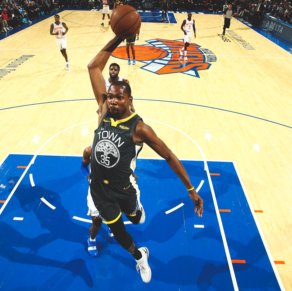 KD flying high in MSG (photo by NBA.com)