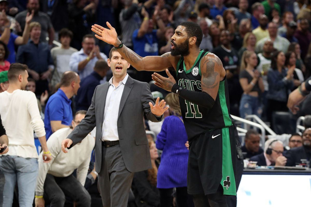 Kyrie Irving, mocked and maligned for his eccentric interests and opinions on non-basketball topics, took the majority of the blame for the Celtics disappointing season for his poor leadership, while the  head coach  received nearly no criticism from the national media. (photo by Kim Klement-USA TODAY)