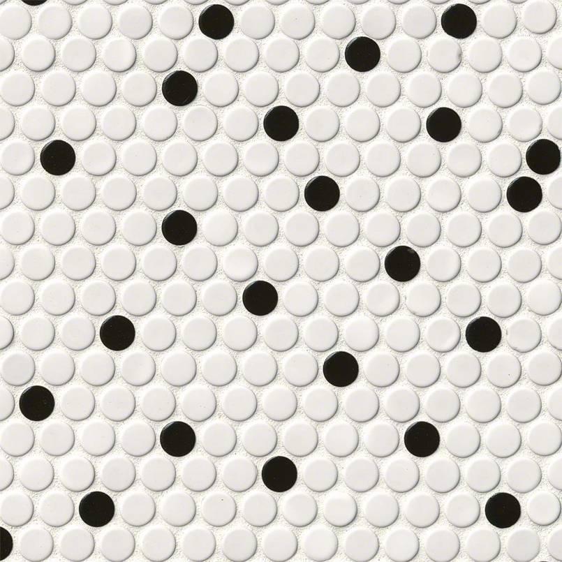 White &black penny round