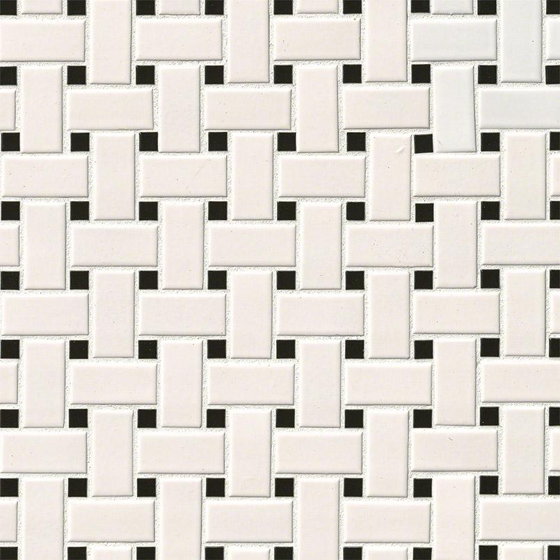 White & black basket weave