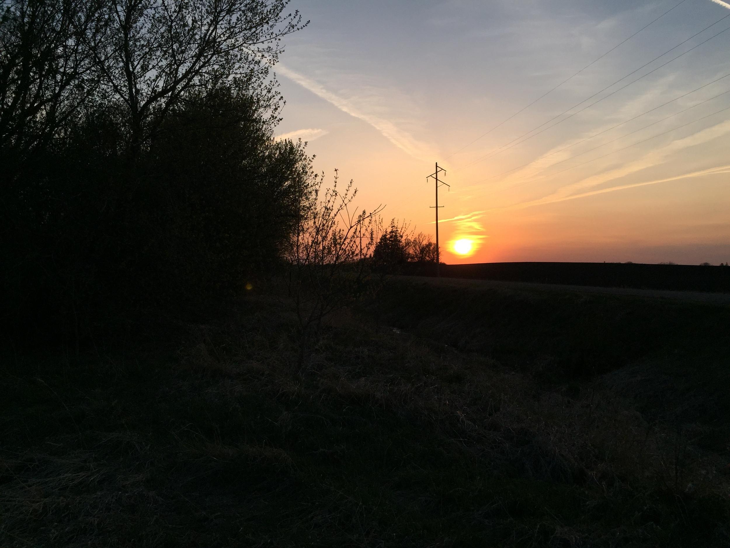 Sunset after a long days work.