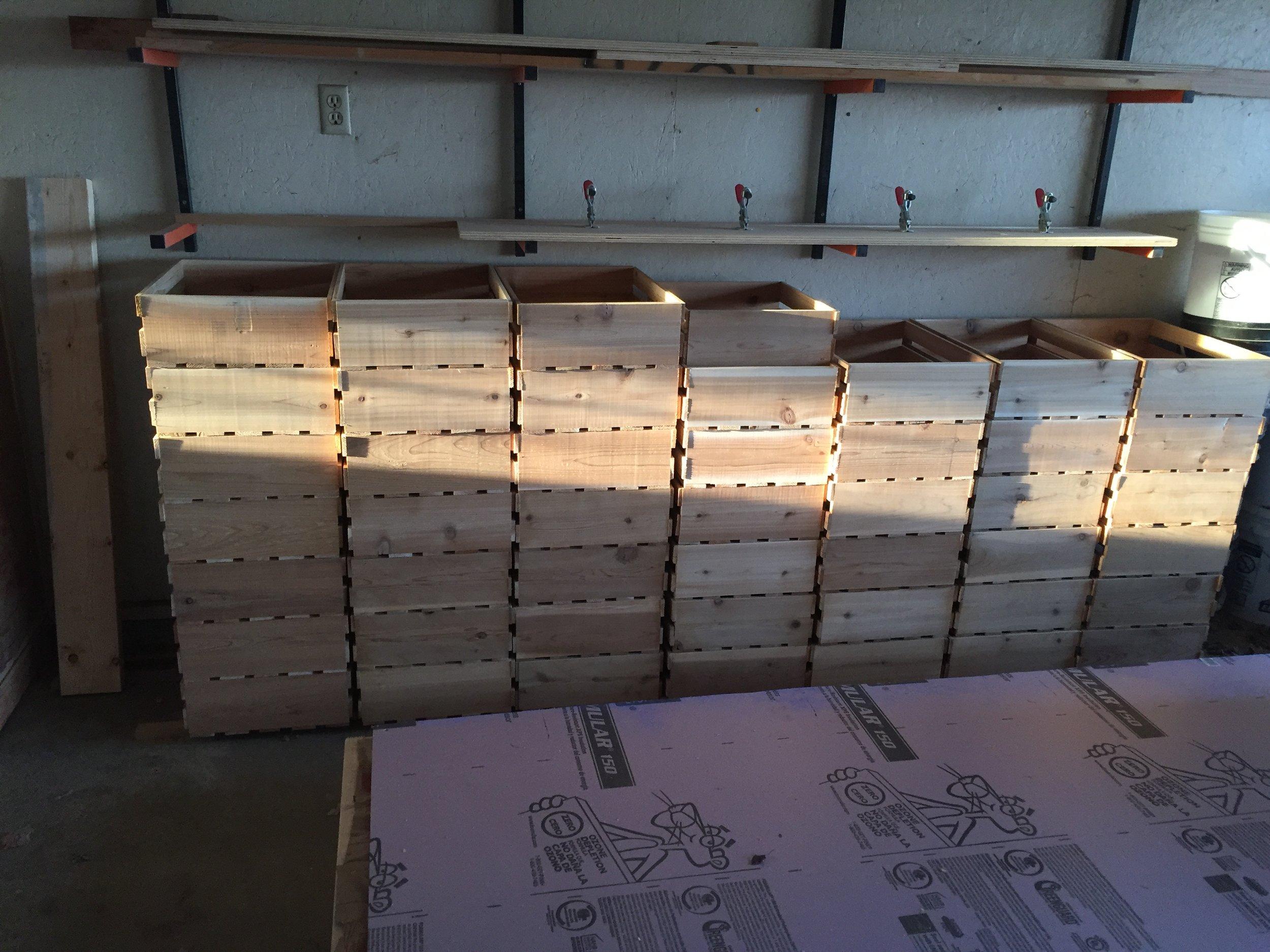 Cedar Crates ready for the 2016 Subscription Produce season