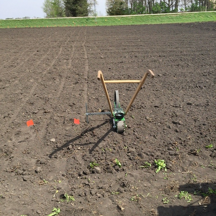 Hoss Tools seeder ready for planting.