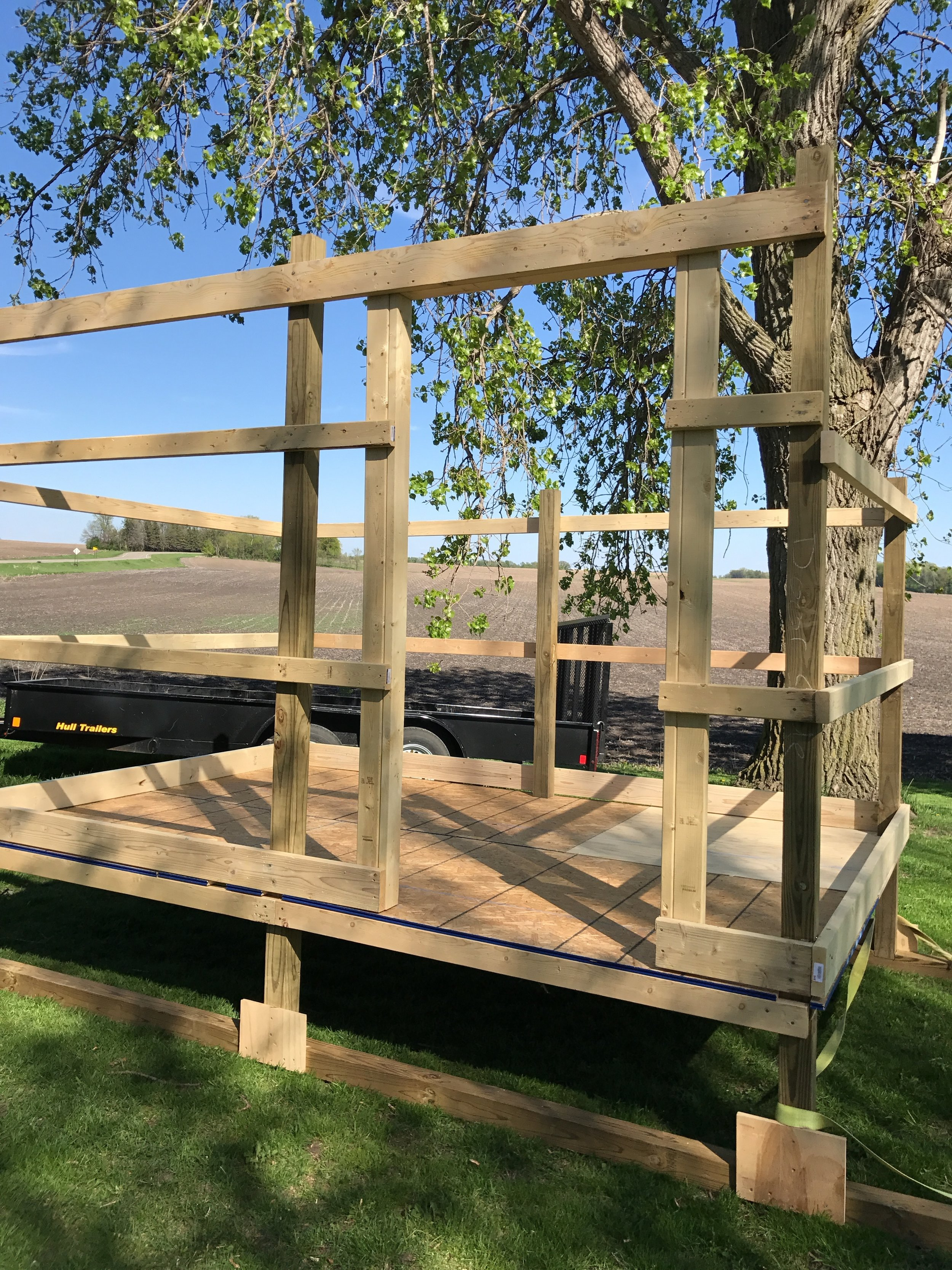 Bonus #2: Chicken coop under construction. It will be 12ft by 8ft when complete and be big enough to house 40 chickens. We plan on having 20 to start with.