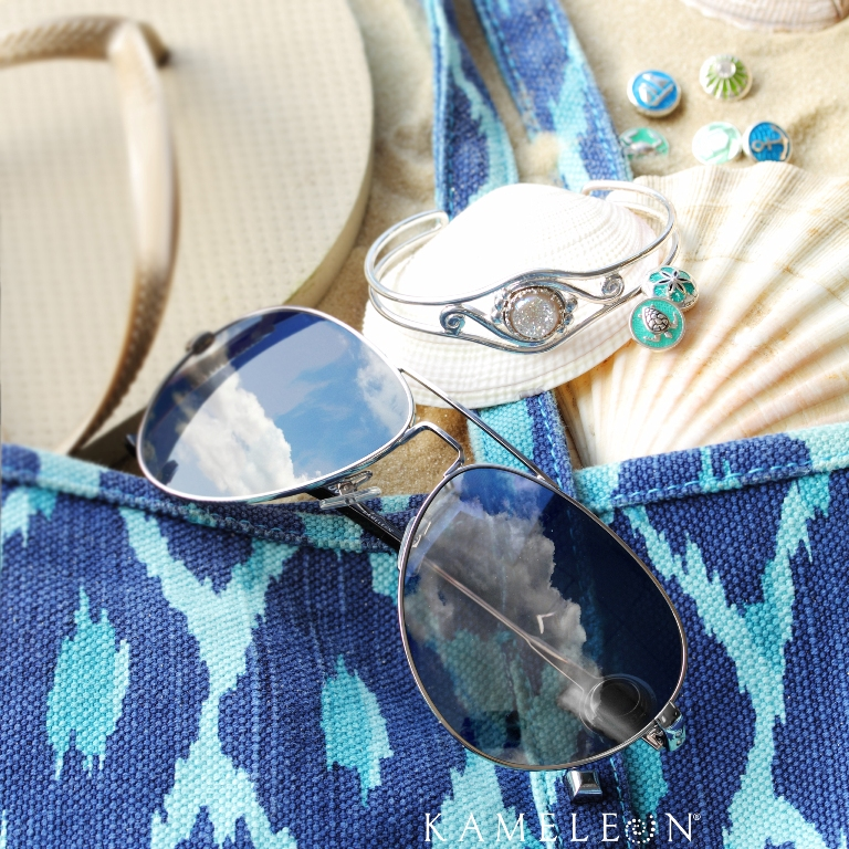 Kameleon Jewelry offers fun nautical JewelPops to fit into their line of silver jewelry and sunglasses!