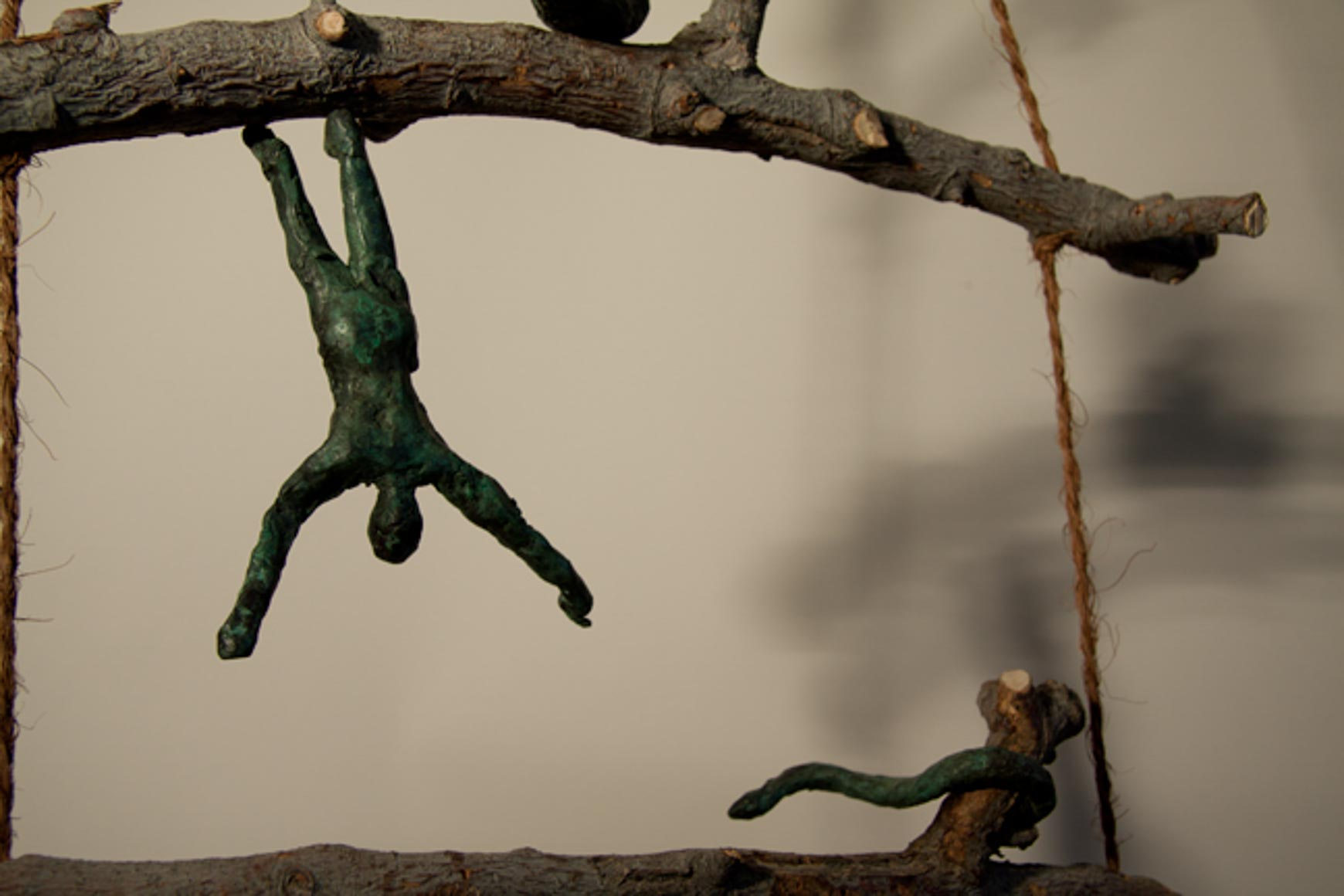 Detail from Apple Ladder: Sculpture LH (She's actually offering an apple to the snake)