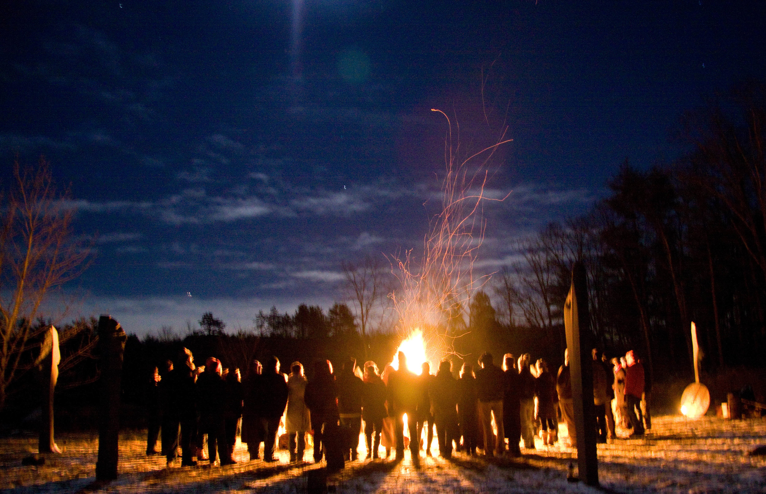 Solstice Fire, Old Frog Pond Farm, photo: Alexis Pappis
