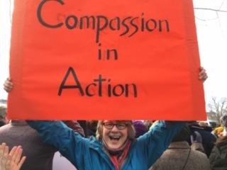 Judith Taisei Schutzman at the Boston March