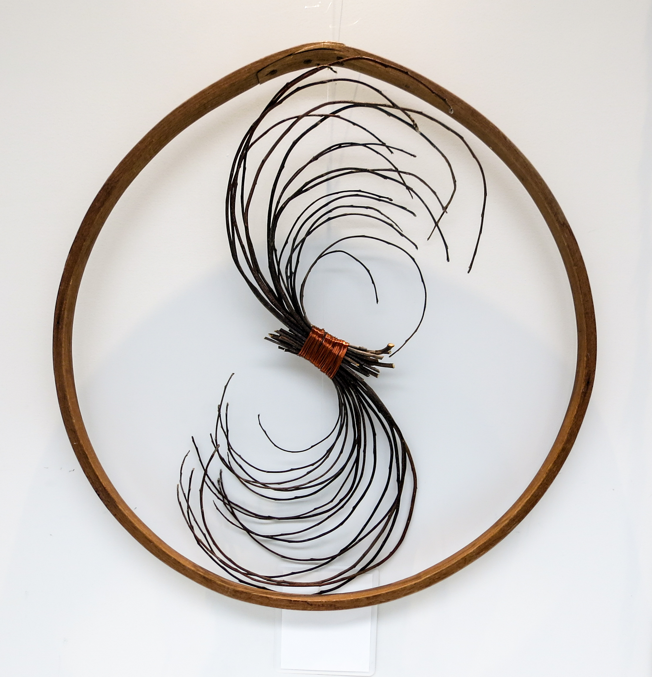 Branch Spiral  , Barrel Stay, Apple Prunings, Copper Wire, Ariel Matisse