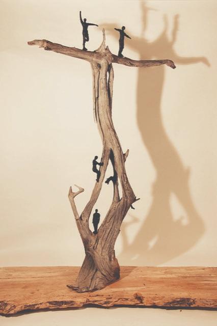 NESA Exhibitat the Eustis Estate - Tree Pose, by Linda Hoffman
