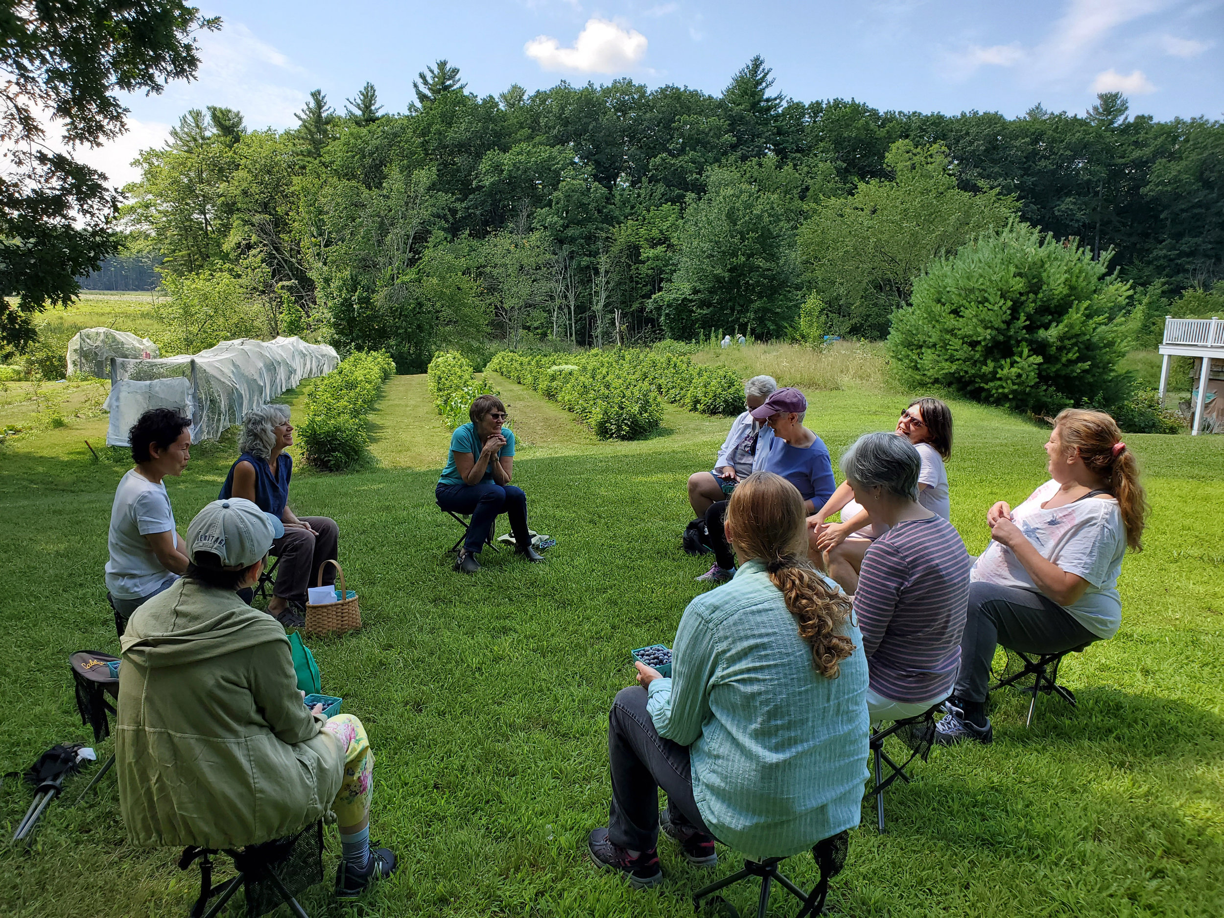 Healing Garden Session at Old Frog Pond Farm . Photo: Nadine Mazzola