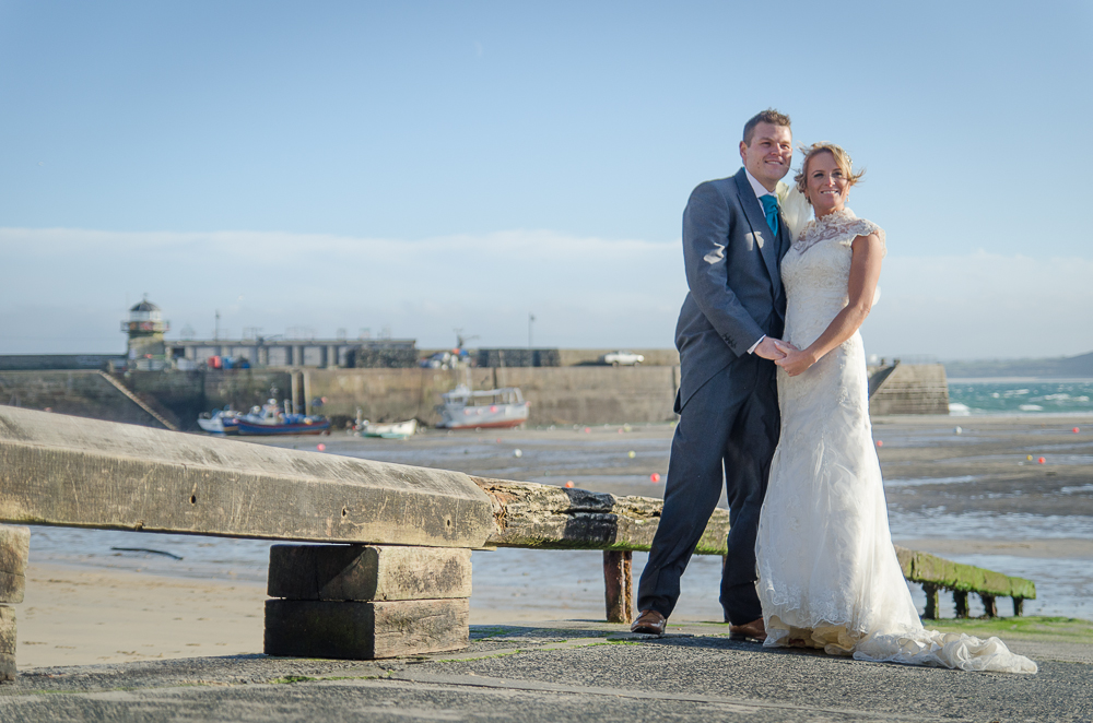 St Ives harbour wedding
