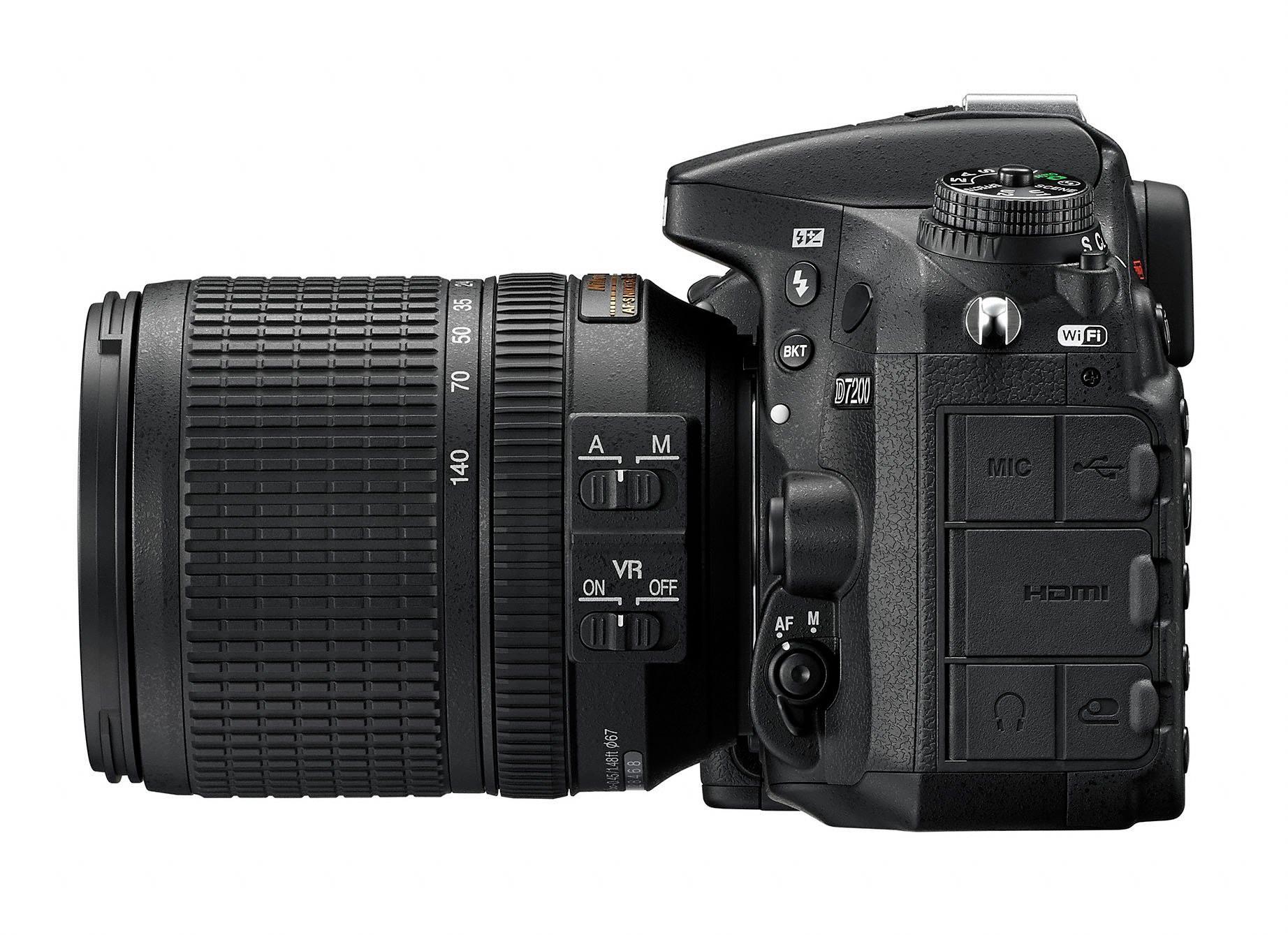 Nikon d7200 dslr view left side