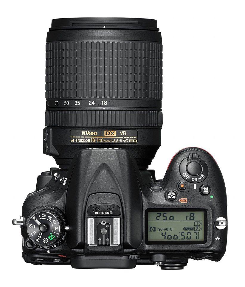 Nikon D7200 DSLR top view