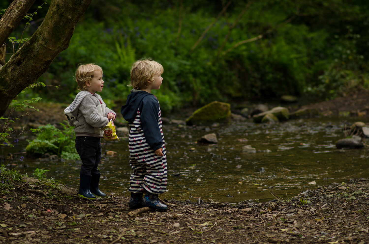 Two boys by the river