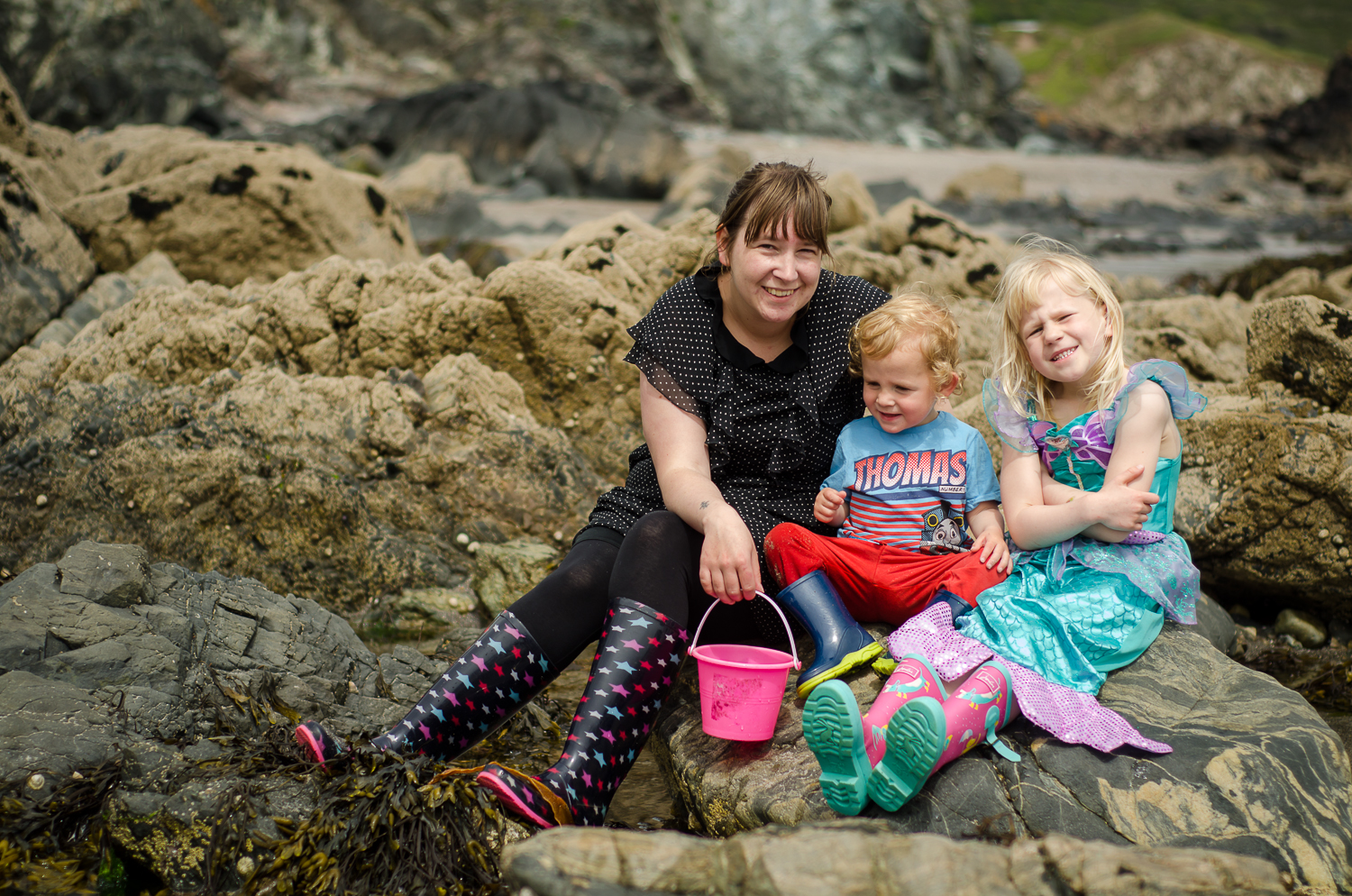 A family portrait at kennack sands
