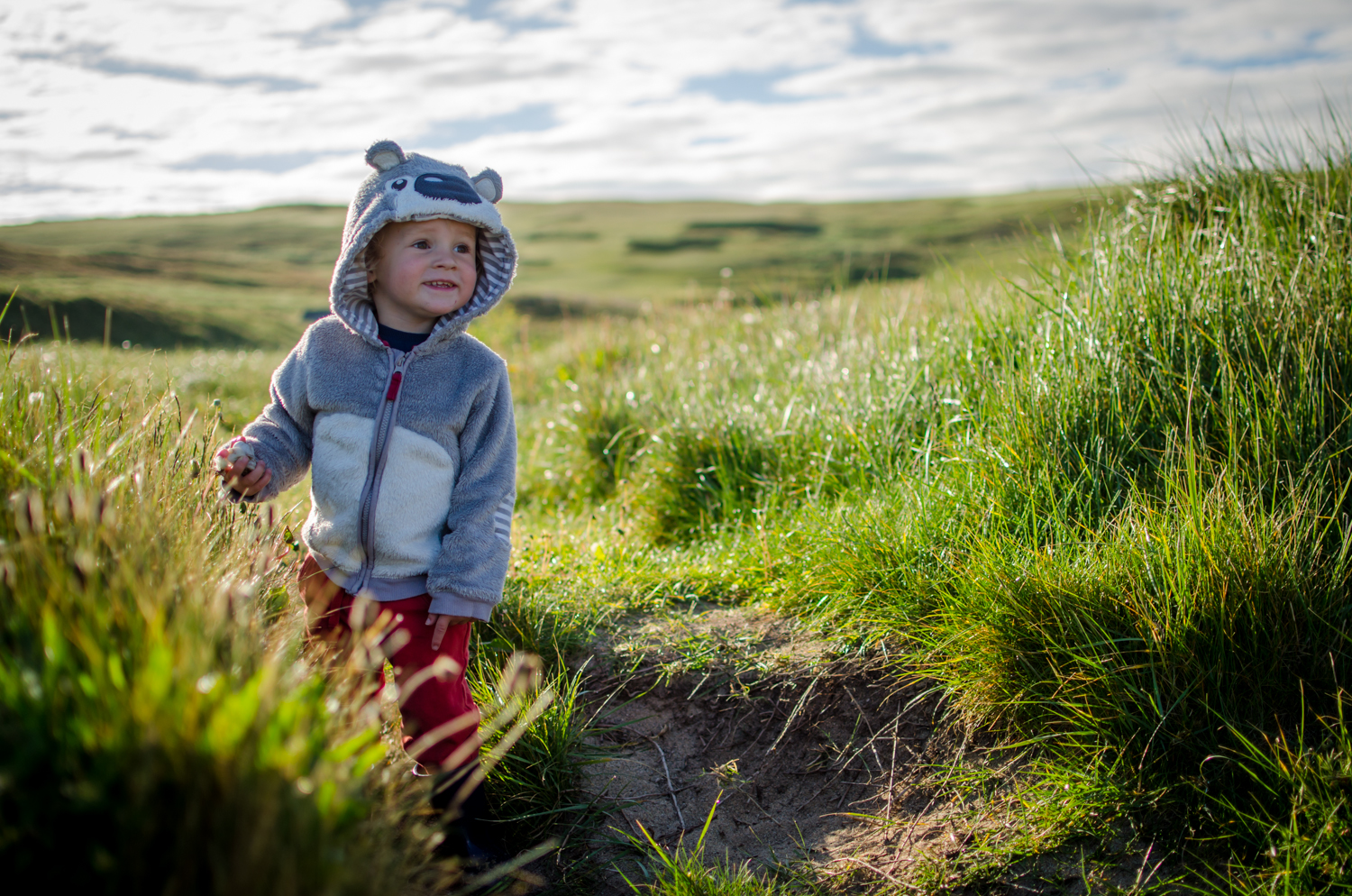 my boy in the grasses of the sand dunes makes for a great portrait opportunity.