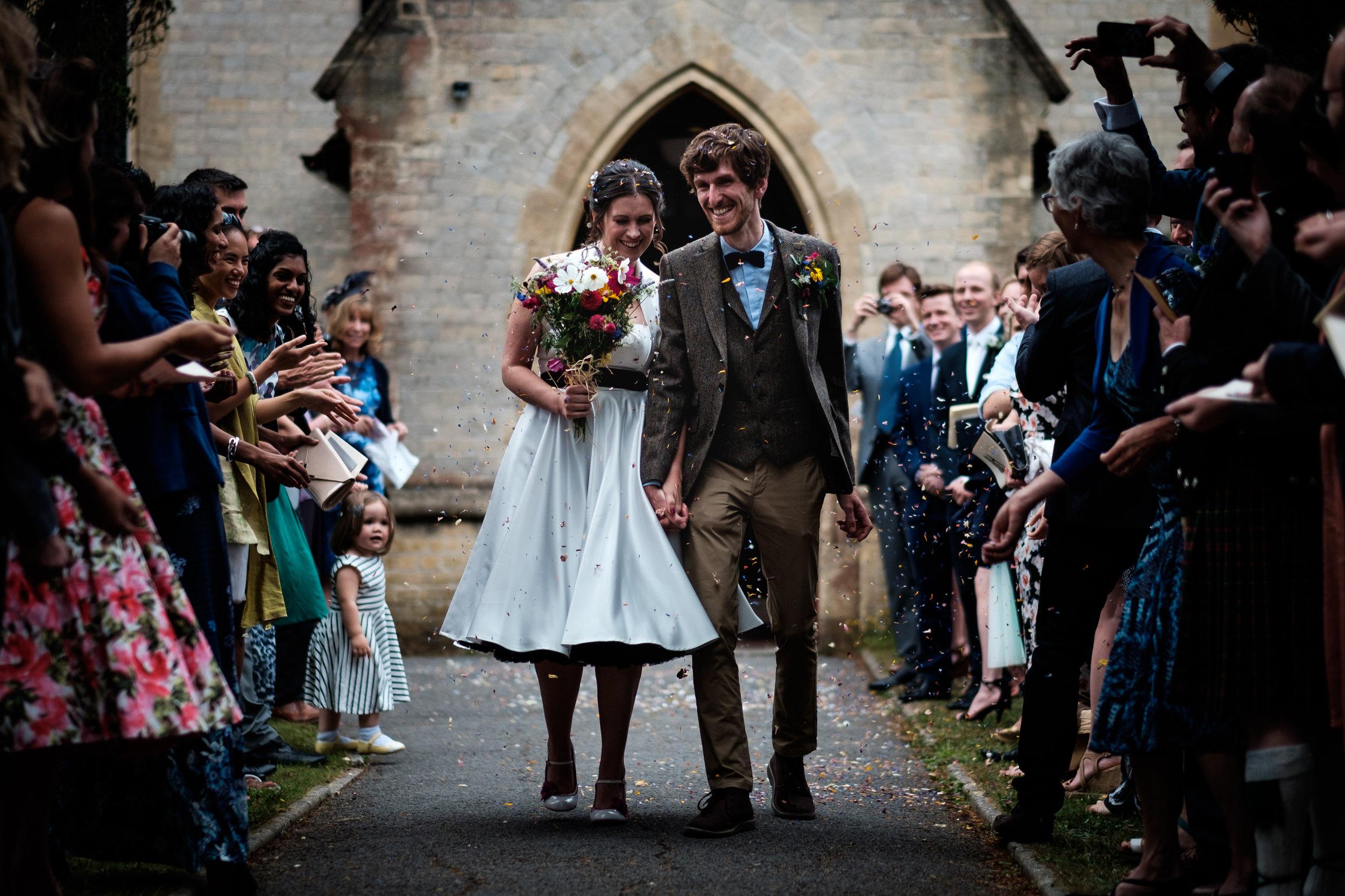 couple in confetti broadstone