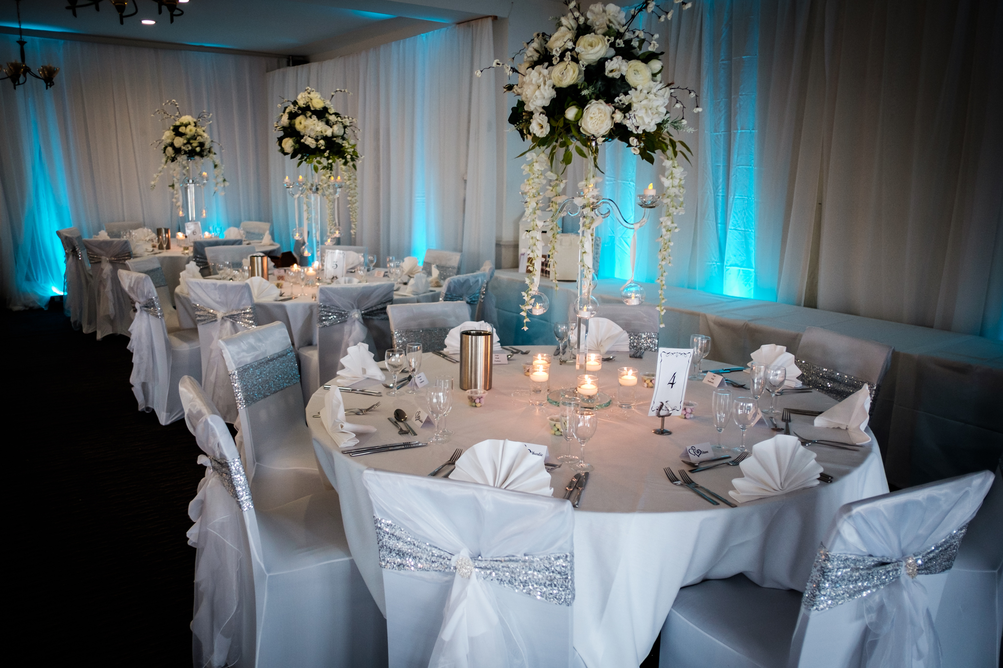 wedding dressed tables